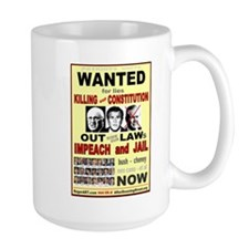 Wanted bush cheney Out Laws Mug