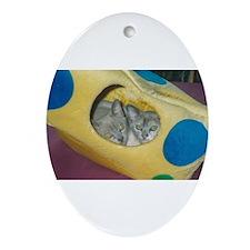Burmese kittens Ornament (Oval)