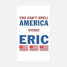Eric in America Rectangle Decal