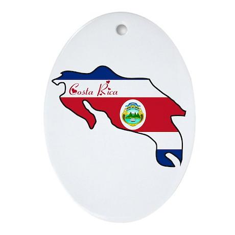 Cool Costa Rica Oval Ornament
