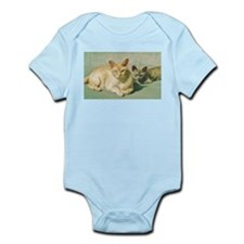 Red Burmese cat and blue Body Suit