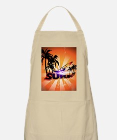Surfing, surfboarder with palm Apron