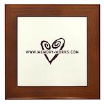MW Heart Logo Framed Tile