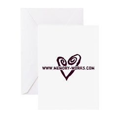MW Heart Logo Greeting Cards (Pk of 20)