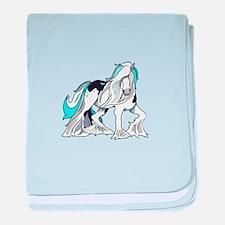 MYSTICAL HORSE baby blanket