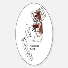 Voodoo Girl Oval Decal