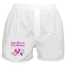 75 AND FABULOUS Boxer Shorts
