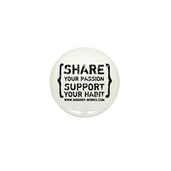 Share Your Passion Mini Button (10 pack)