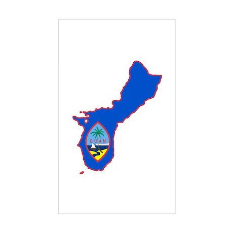 Cool Guam Rectangle Sticker