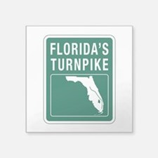 "Florida Turnpike, Florida Square Sticker 3"" x 3"""