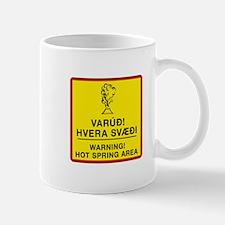 Warning Hotspring Area, Iceland Mug