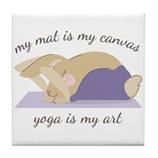 Yoga Art Tile Coaster