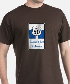 Highway 50, Loneliest in America, Nev T-Shirt