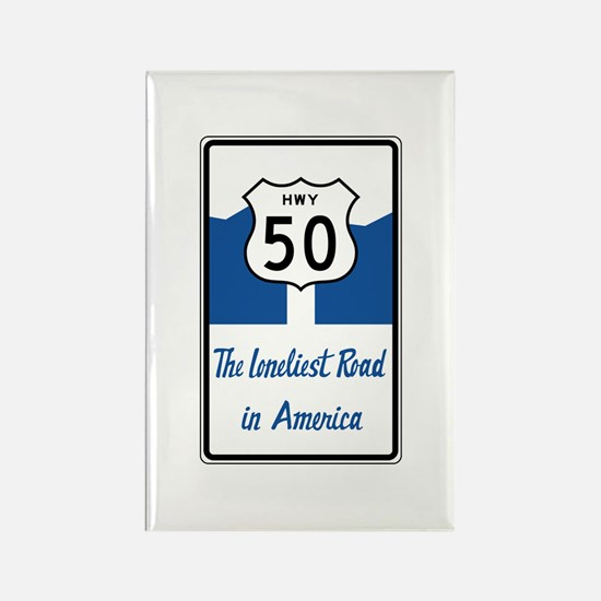Highway 50, Loneliest in America, Rectangle Magnet