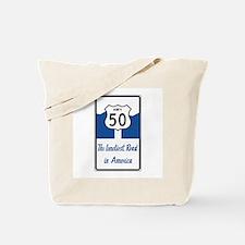 Highway 50, Loneliest in America, Nevada Tote Bag