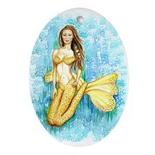 Cadence Mermaid Oval Ornament