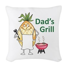 DADS GRILL Woven Throw Pillow