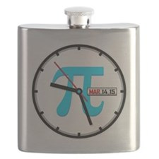 Ultimate Pi Day 2015 Clock Flask