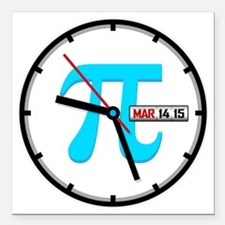 "Ultimate Pi Day 2015 Clo Square Car Magnet 3"" x 3"""