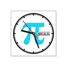 """Ultimate Pi Day 2015 Clock Square Sticker 3"""" x 3"""""""