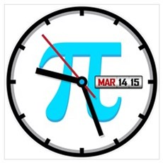 Ultimate Pi Day 2015 Clock Canvas Art