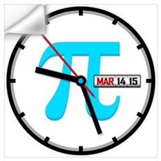Ultimate Pi Day 2015 Clock Wall Decal