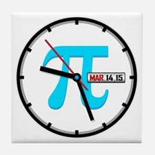 Ultimate Pi Day 2015 Clock Tile Coaster
