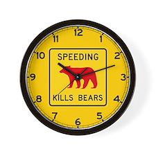 Speeding Kills Bear, California (US) Wall Clock