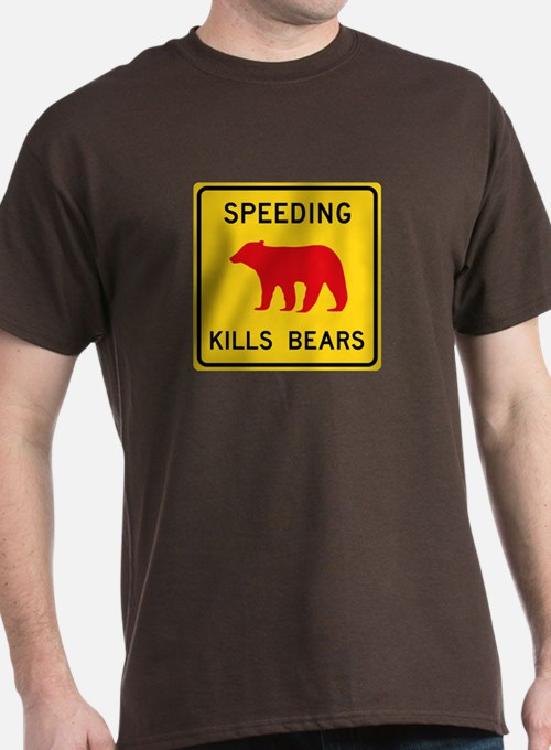 Speeding Kills Bear, California (US) T-Shirt