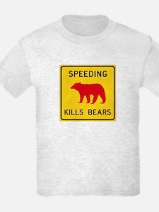 Speeding Kills Bear, California T-Shirt