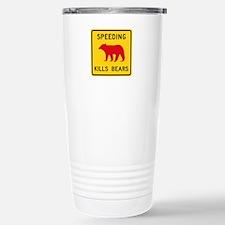Speeding Kills Bear, Ca Travel Mug