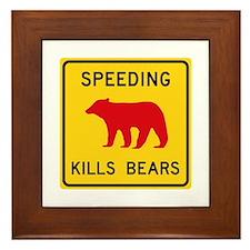 Speeding Kills Bear, California (US) Framed Tile