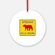 Speeding Kills Bear, California ( Ornament (Round)