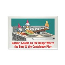 """Gnome on the Range"" Rectangle Magnet"