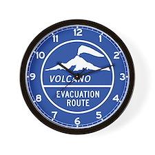 Volcano Evacuation Route, Washington Wall Clock