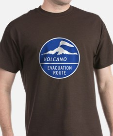 Volcano Evacuation Route, Washington T-Shirt