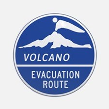 Volcano Evacuation Route, Washing Ornament (Round)