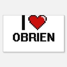 I Love Obrien Decal
