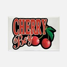 Cherry Boy Rectangle Magnet