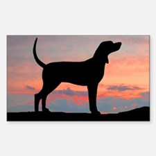 Sunset Coonhound Rectangle Decal