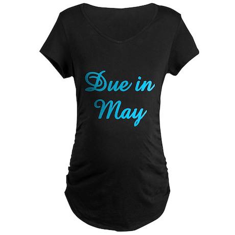 Due In May Maternity Dark T-Shirt
