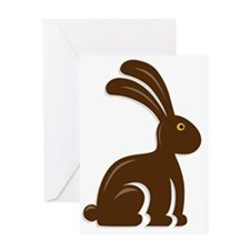 Funny Chocolate Bunny Greeting Card