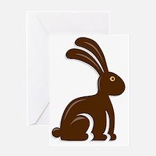 Funny Chocolate Bunny Greeting Card