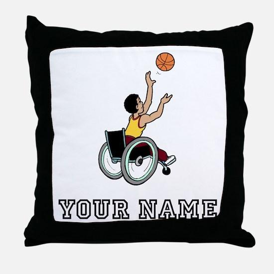 Wheelchair Basketball Throw Pillow