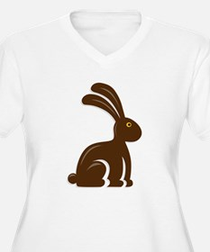 Funny Chocolate Bunny Plus Size T-Shirt