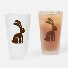 Funny Chocolate Bunny Drinking Glass