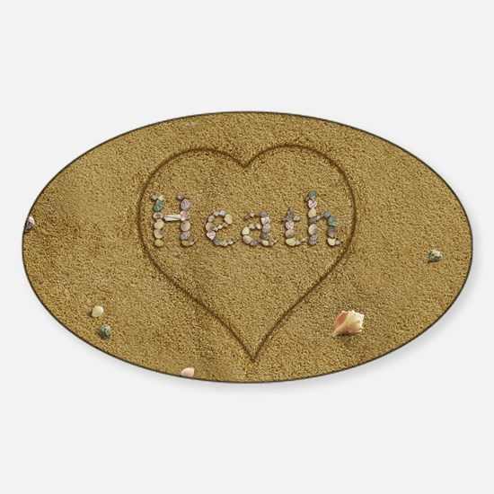 Heath Beach Love Sticker (Oval)