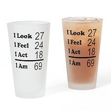 I Am 69 Drinking Glass