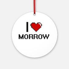 I Love Morrow Ornament (Round)