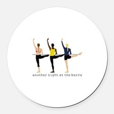 Night At The Barre Round Car Magnet